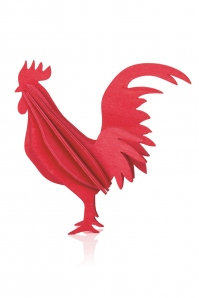Rooster 10 cm